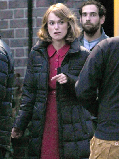 Keira Knightley began filming The Imitation Game on Wednesday in Hertfordshire, UK.