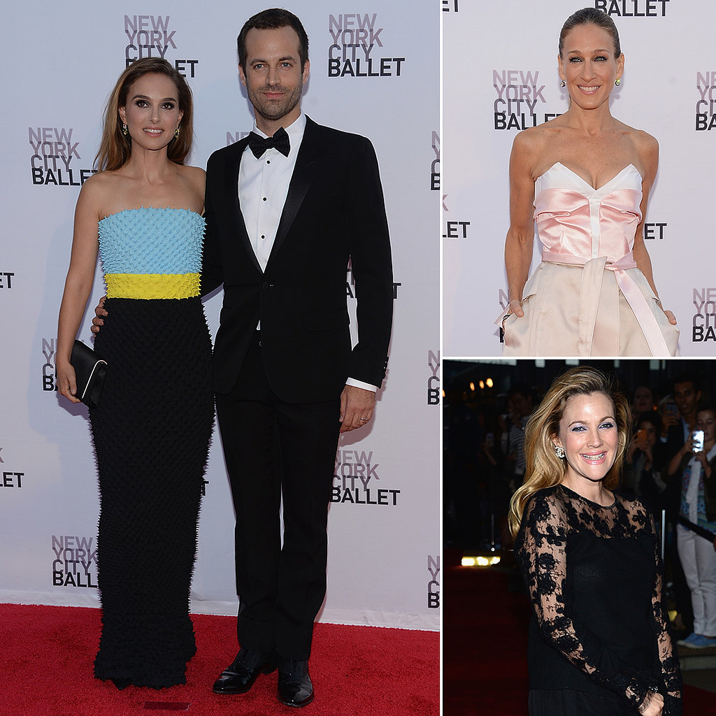 Natalie, Drew, and Sarah Jessica Step Out in Style to Support the Ballet