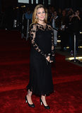 Drew Barrymore was dressed in black lace on the New York City Ballet 2013 Fall Gala red carpet.