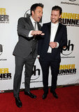 Ben Affleck and Justin Timberlake shared laughs and smiles at the red carpet premiere of Runner, Runner in Las Vegas on Wednesday night.