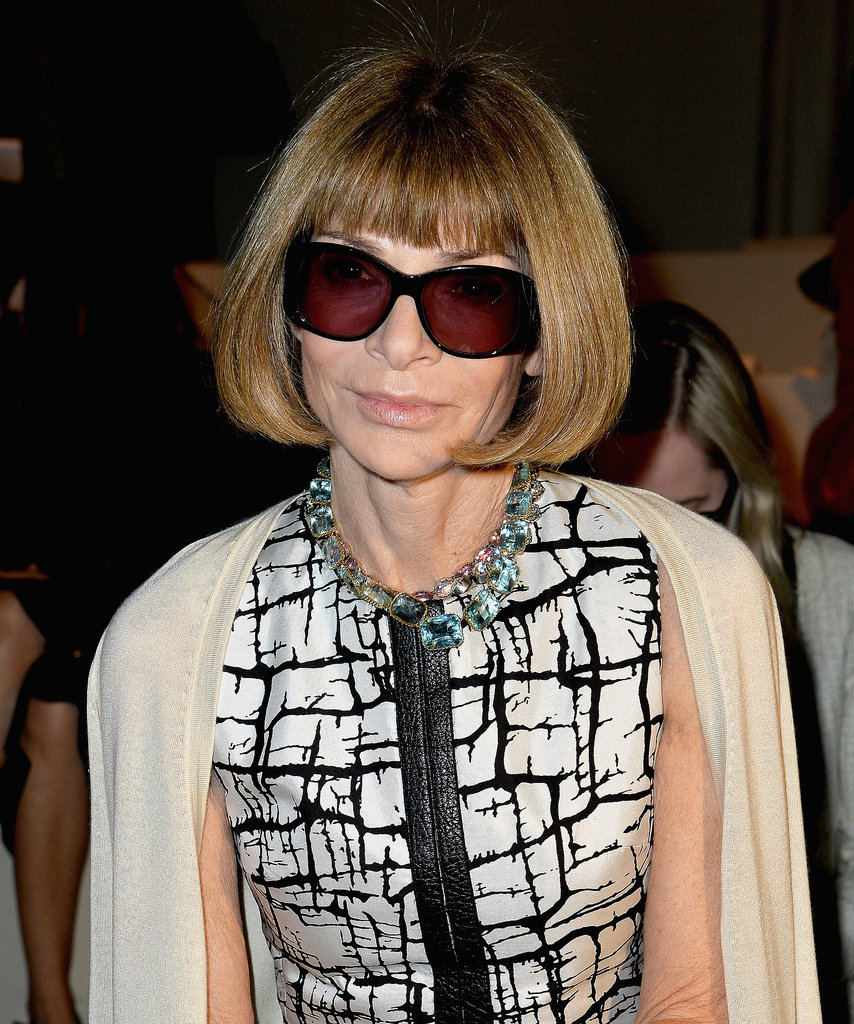 Anna Wintour at Max Mara Spring 2014.