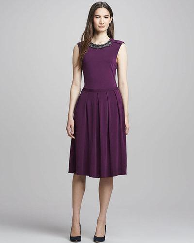 Tory Burch Eva Jewel-Neck Dress