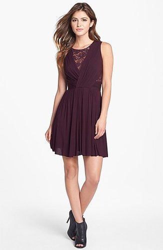 B44 Dressed by Bailey 44 Lace Inset Jersey Fit & Flare Dress
