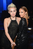Miley Cyrus and Nicole Richie linked up at a pre-Grammys gala in LA in Feb. 2013.
