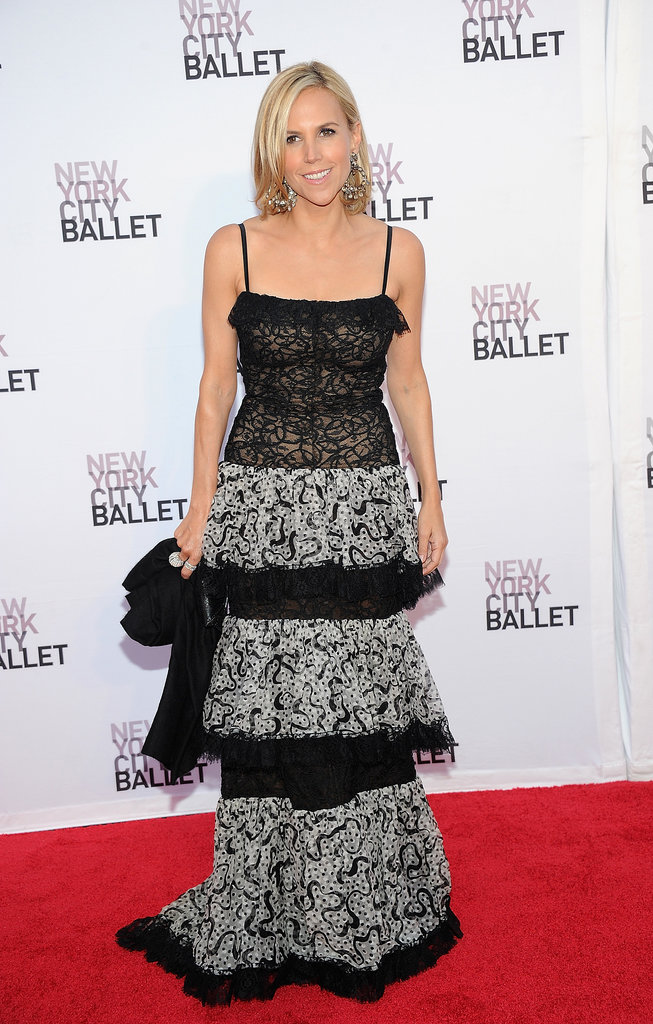Tory Burch stepped out in a tiered gown at the Lincoln Center Fall gala for the New York City Ballet.