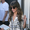 Lea Michele With Cory Necklace and Gone Girl
