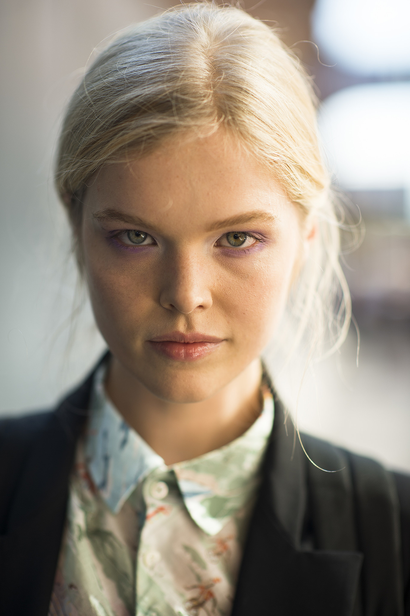 A peek of purple under the eyes looks darling on this model. Source: Le 21ème | Adam Katz Sinding