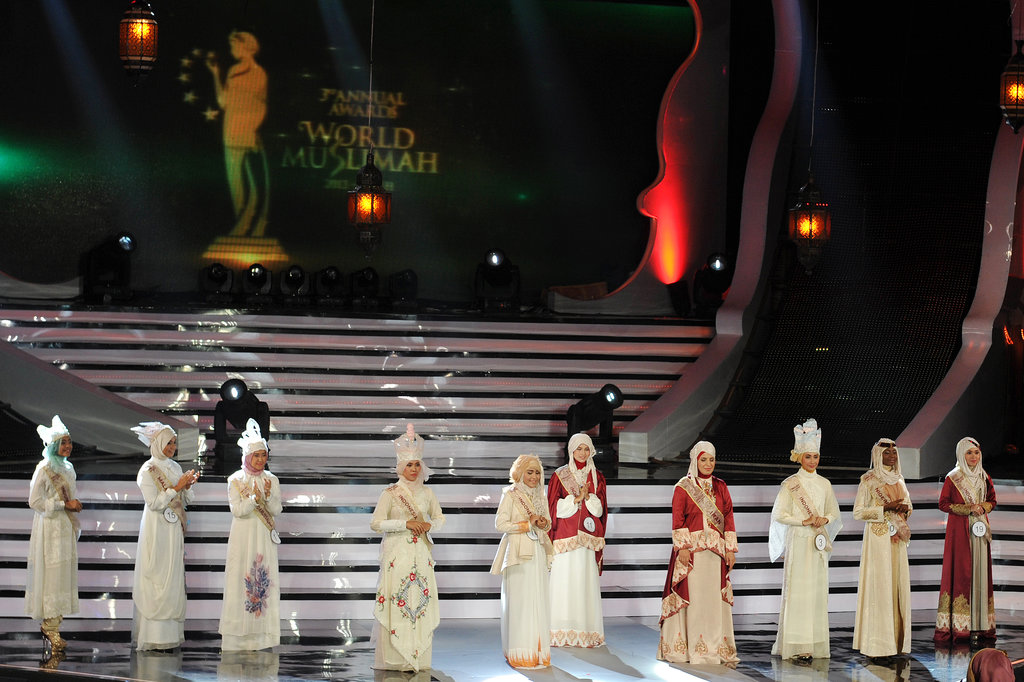 The pageant was made up of all-Muslim contestants.