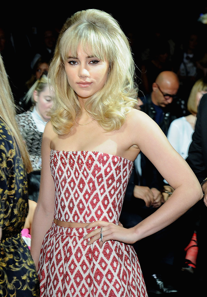 Suki Waterhouse at the DSquared2 show in Milan.
