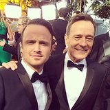 Aaron Paul and Bryan Cranston walked the Emmys red carpet together in style. Source: Instagram user televisionacad