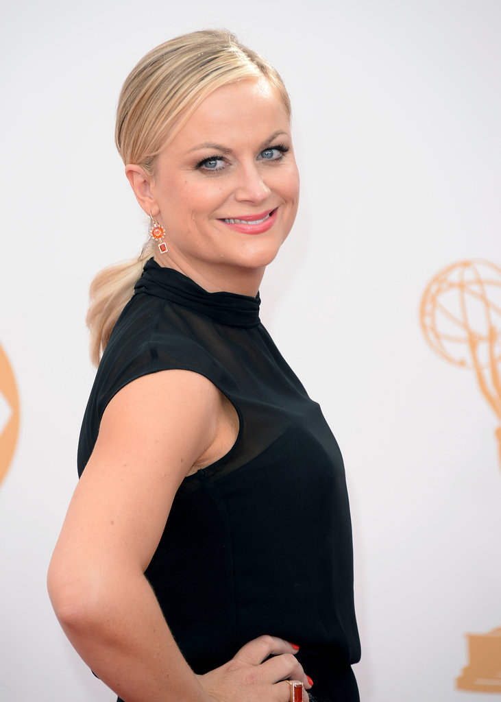 Amy Poehler walked the red carpet at the 2013 Emmy Awards.