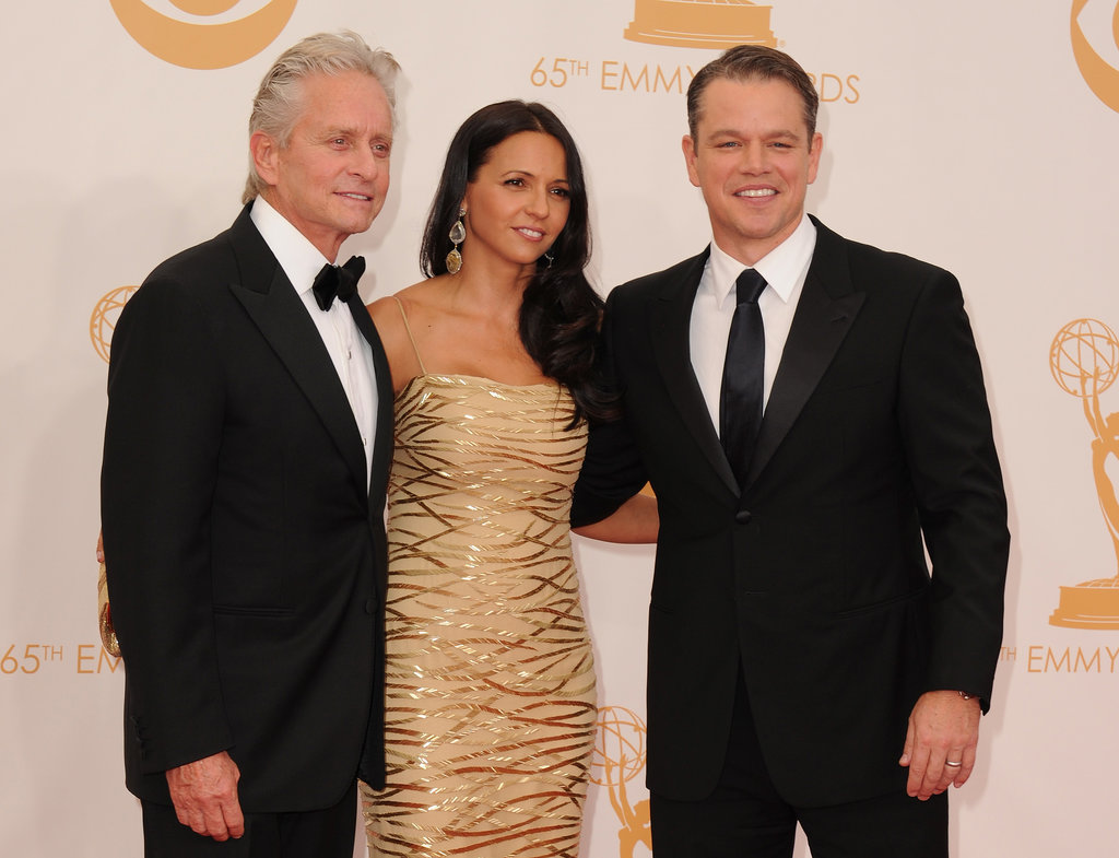 Michael Douglas joined Matt and Luciana Damon on the red carpet.