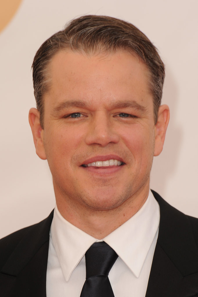Matt Damon was all smiles on the Emmys red carpet.