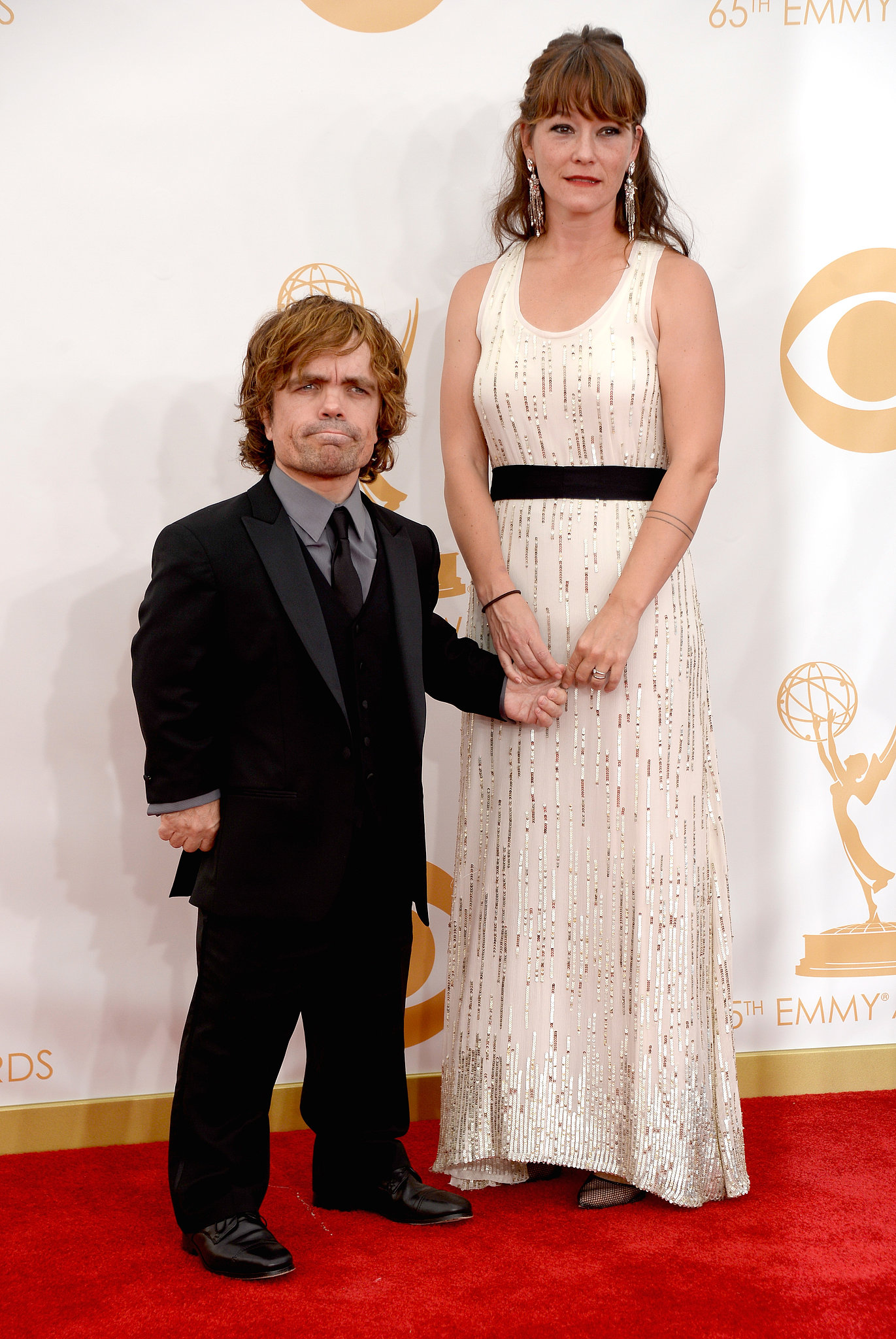 Game of Thrones star Peter Dinklage and Erica Schmidt attended the Emmys.
