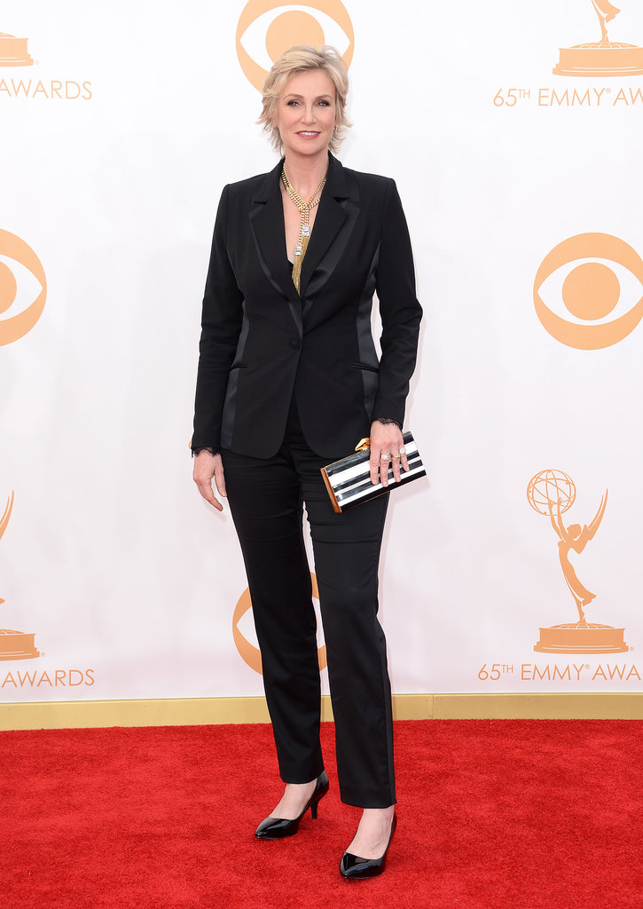 Jane Lynch on the red carpet at the 2013 Emmy Awards.