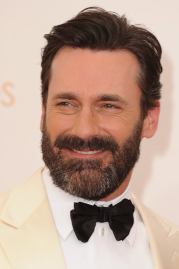 Jon Hamm sported a beard for the 2013 Emmy Awards.