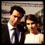 Girls stars Alex Karpovsky and Zosia Mamet posed together on the red carpet. Source: Instagram user girlshbo