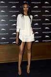 Zoe Saldana in Longchamp and Christian Louboutin