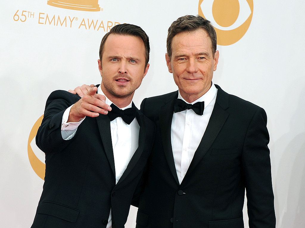 Aaron Paul and Bryan Cranston looked like two peas in a pod on the red carpet.