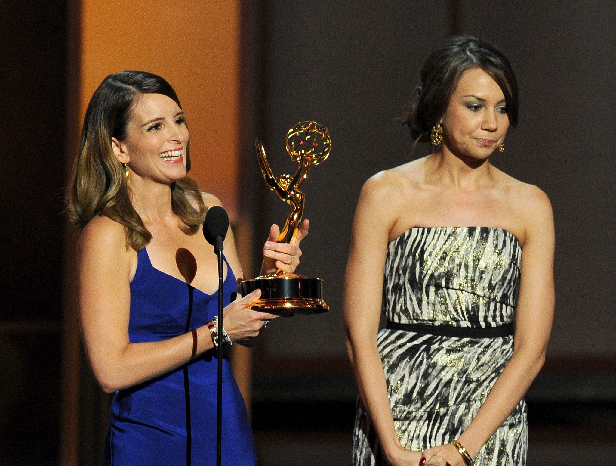 Tina Fey and her 30 Rock writing partner Tracey Wigfield won the award for best writing fo