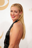 Cat Deeley showed off a dusty-pink lip and stick-straight strands that complemented her sequined halter dress.