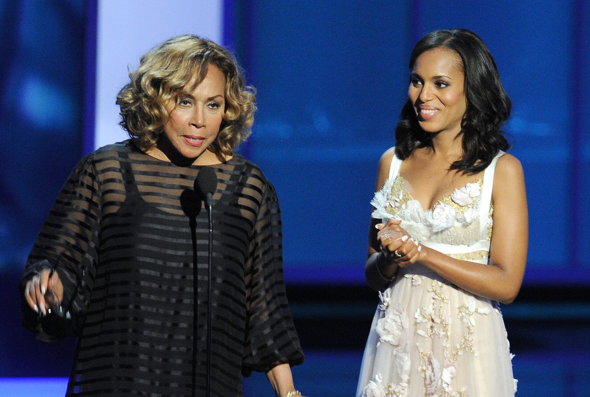 Diahann Carroll — the first African American to win an Emmy — spoke alongside Kerry Washington.