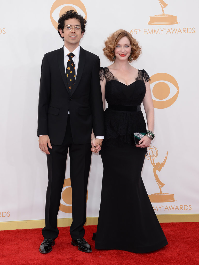 Geoffrey Arend and Christina Hendricks held hands at the Emmys.
