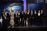 The entire cast and crew took the stage to accept the award for outstanding drama series.