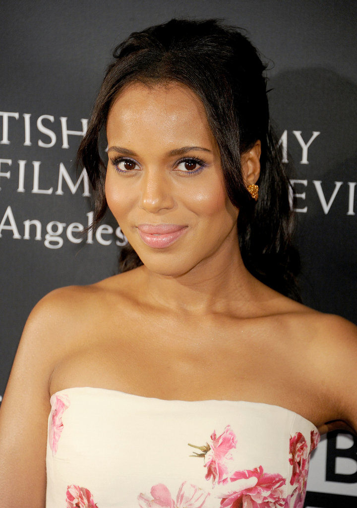 Kerry Washington played with pinks and purples at the BAFTA LA TV Tea — a very ladylike look indeed.