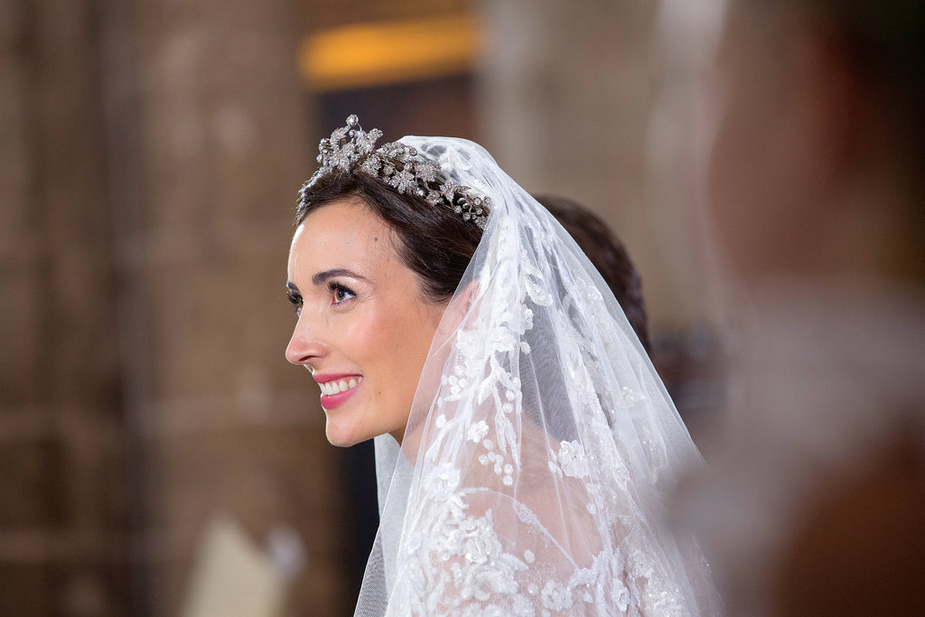 Princess Claire of Luxembourg glowed on her wedding day.