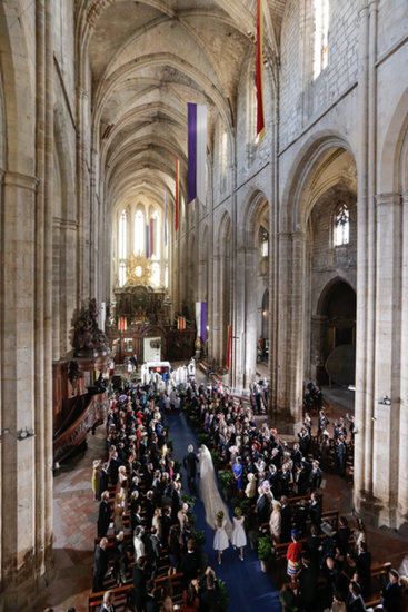The royal wedding took place at the Basilique Sainte Marie-Madeleine in France.