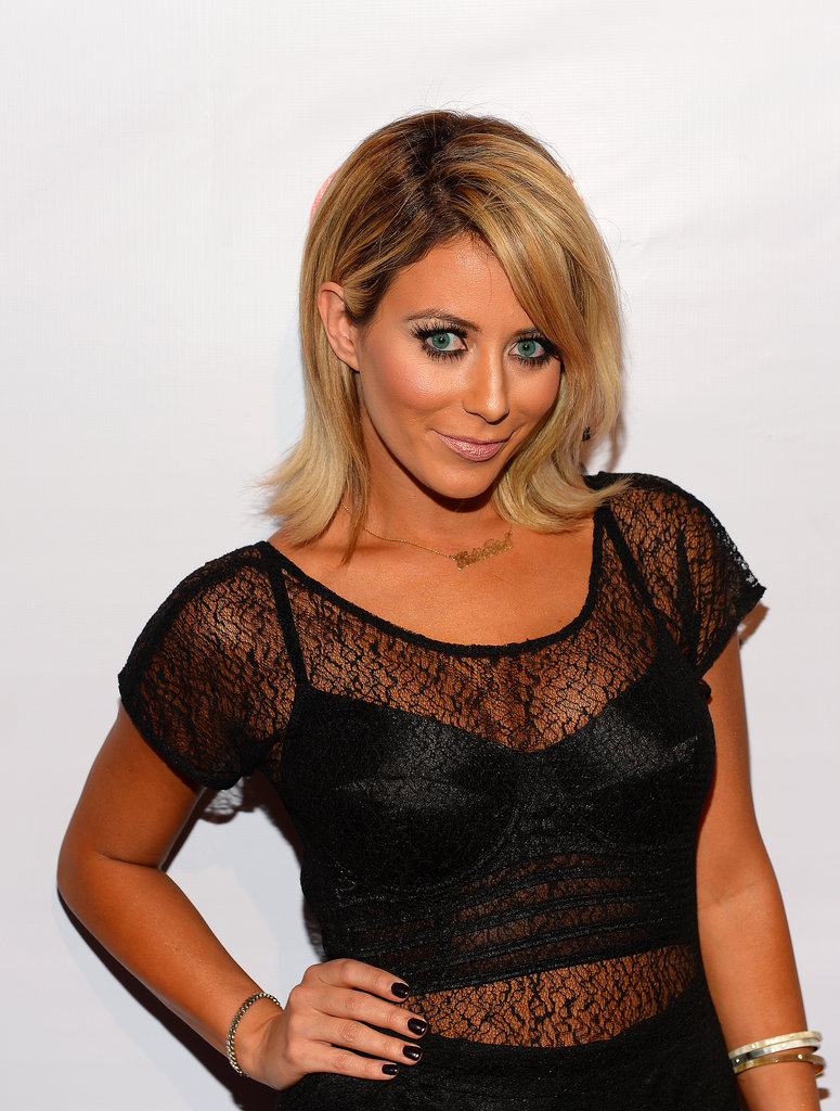 Lots of dark eyeliner and mascara made Aubrey O'Day's edgy beauty look complete.