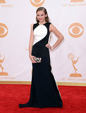 Morgan Saylor on the red carpet at the 2013 Emmy Awards.