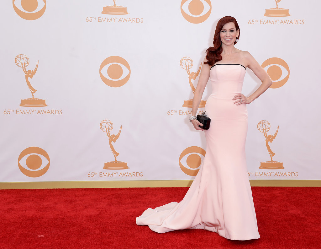 Carrie Preston on the red carpet at the 2013 Emmy Awards.