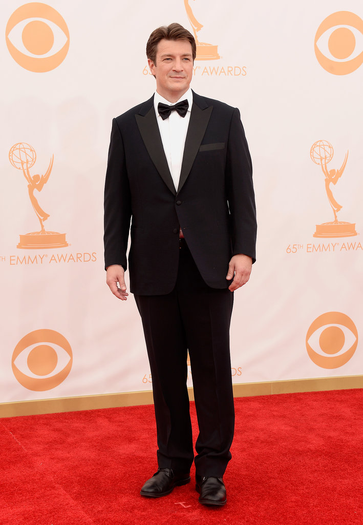 Nathan Fillion suited up for the Emmys red carpet.