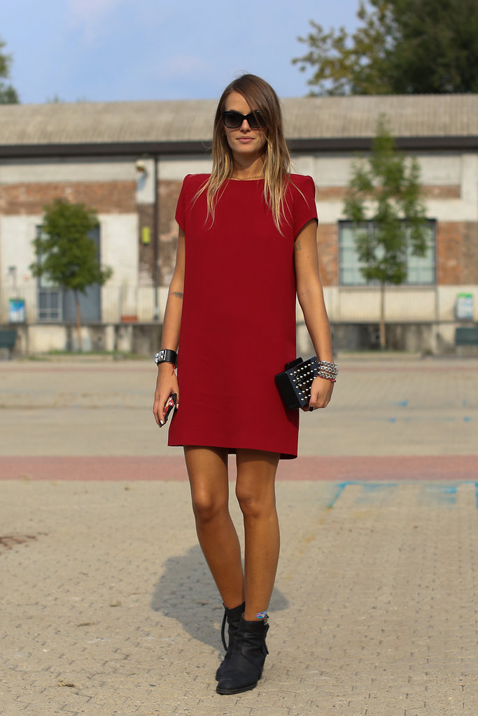 A bold red hue made this simple silhouette pop.