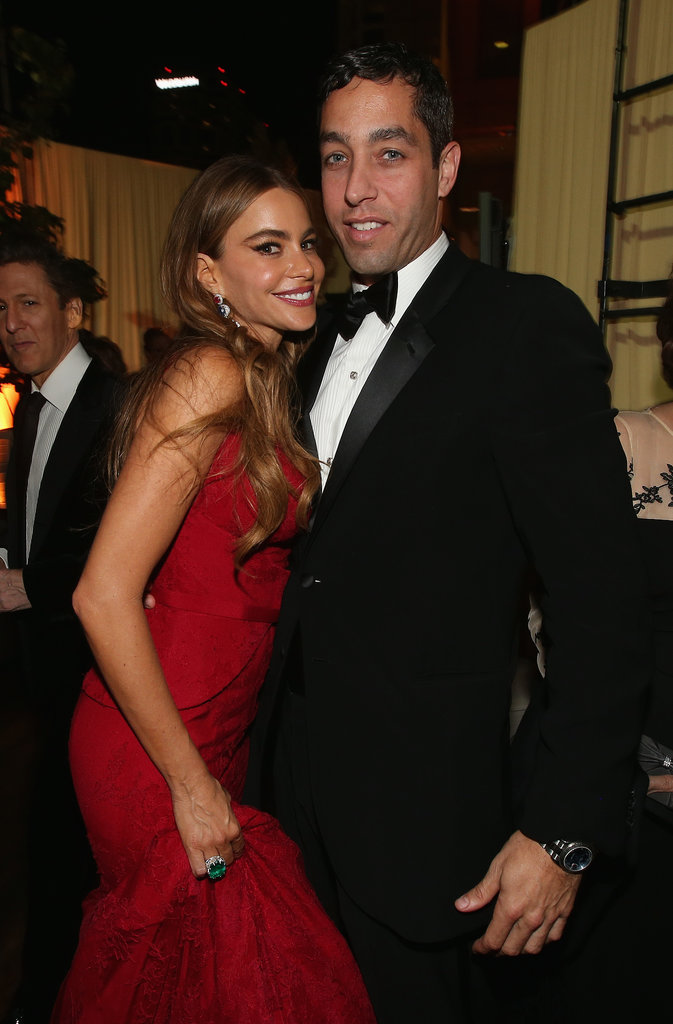 Sofia Vergara kept close to Nick Loeb at the Fox afterparty.