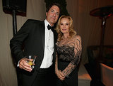 Modern Family producer Steven Levitan mingled with Jessica Lange at the Fox afterparty.