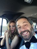 Judd Apatow and Leslie Mann headed to the Emmys. Source: Twitter user juddapatow