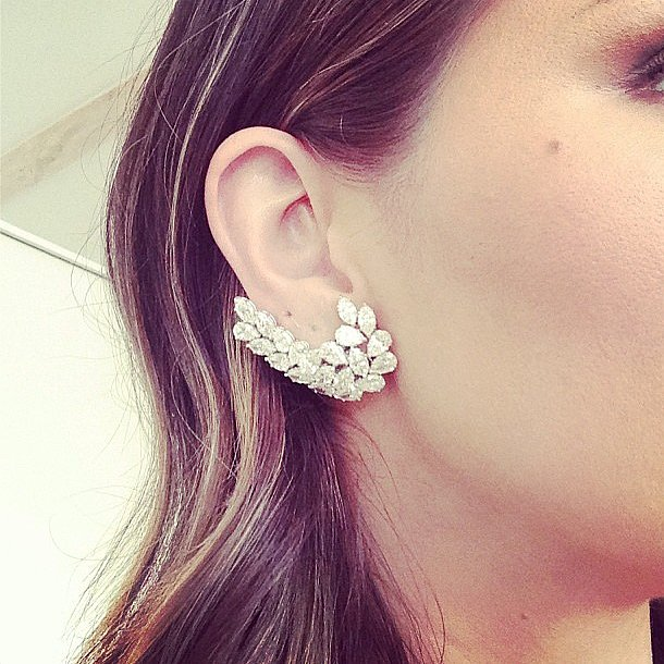 Katharine McPhee gave us some serious sparkle with her Norman Silverman diamonds. Source: Instagram user katharinemcphee