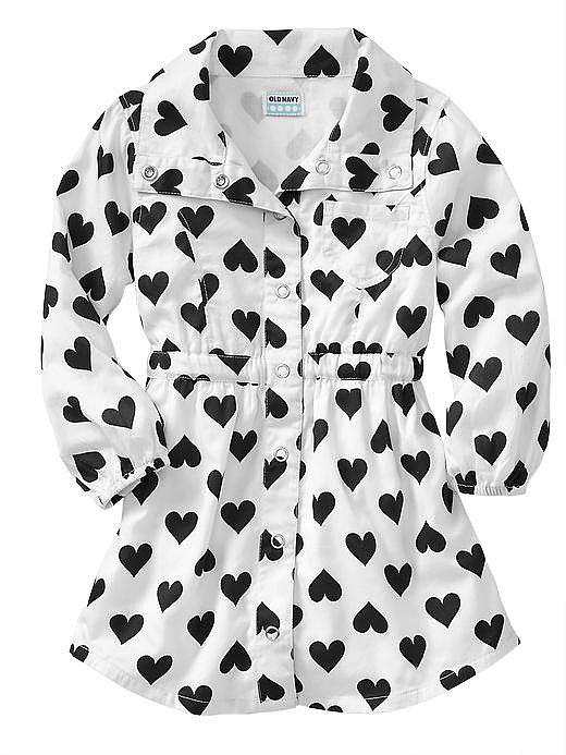 Old Navy's Heart-Print Shirtdress ($20) is black and white and loved all over!