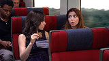 Cristin Milioti and and Alyson Hannigan on How I Met Your Mother.