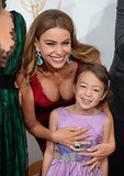 Sofia Vergara posed with her Modern Family costar Aubrey Anderson-Emmons in the press room.