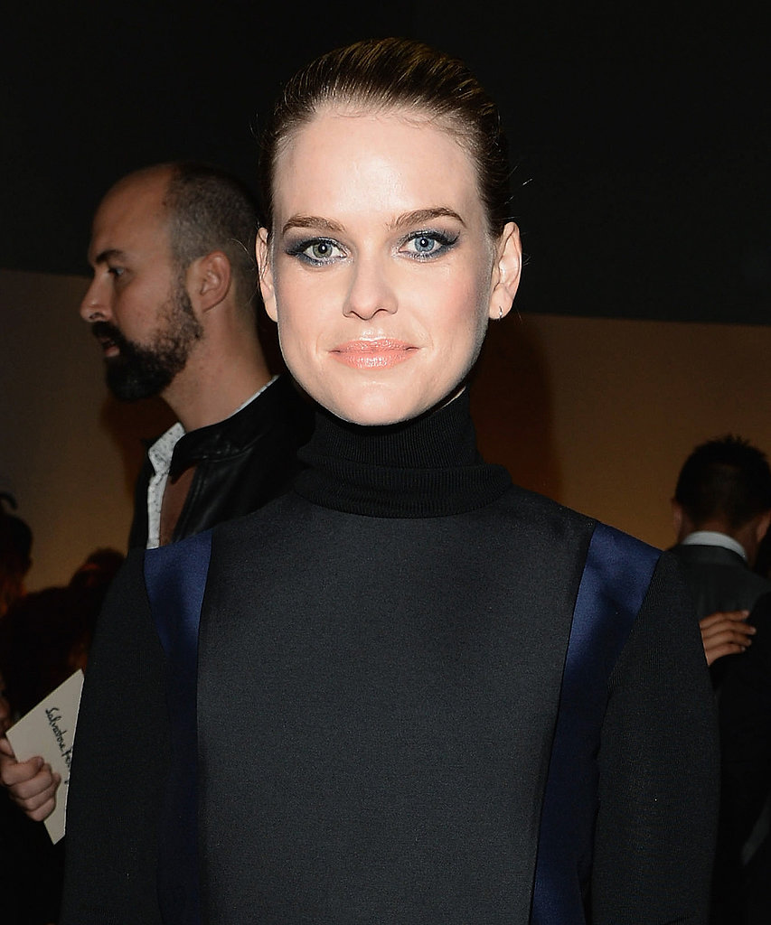 Alice Eve at Salvatore Ferragamo Spring 2014.