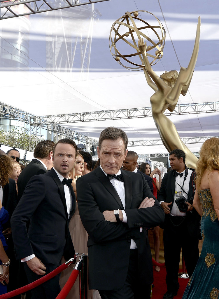 Aaron Paul photobombed Bryan Cranston on the red carpet.