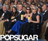 Tina Fey and Amy Poehler ate popcorn during a skit.