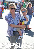 Selma Blair took her son, Arthur, to an LA farmers market on Sunday.