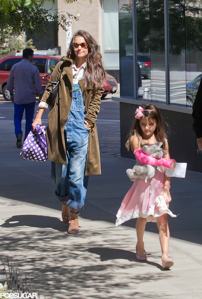 Katie Holmes and Suri Cruise went to get manicures together on Sunday in NYC.