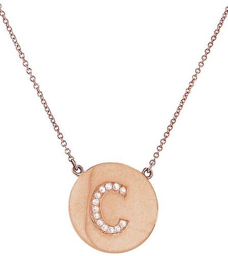 Jennifer Meyer 'C' letter necklace