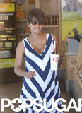 Halle Berry Bumps Her Way to Jamba Juice